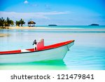 beautiful tropical lagoon with...   Shutterstock . vector #121479841