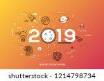 infographic concept  2019  ... | Shutterstock .eps vector #1214798734