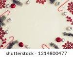 christmas decorative ornaments... | Shutterstock . vector #1214800477