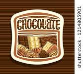 vector logo for chocolate ... | Shutterstock .eps vector #1214805901
