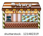 Illustration Of A Bakery On A...