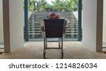closeup shot of a funeral... | Shutterstock . vector #1214826034