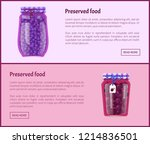 preserved food banners with... | Shutterstock .eps vector #1214836501