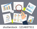 infographics and schemes... | Shutterstock .eps vector #1214837311