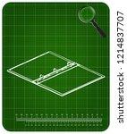 3d model of notebook on a green ... | Shutterstock .eps vector #1214837707