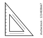 angle ruler icon. outline angle ...   Shutterstock .eps vector #1214838667