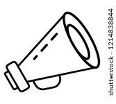 public bullhorn icon. outline... | Shutterstock .eps vector #1214838844