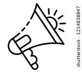audio bullhorn icon. outline... | Shutterstock .eps vector #1214838847