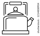 old kettle icon. outline old... | Shutterstock .eps vector #1214838904