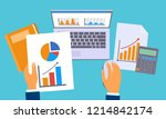 accounting work graph concept... | Shutterstock .eps vector #1214842174