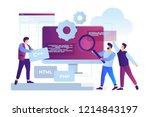 concept of software development ... | Shutterstock .eps vector #1214843197