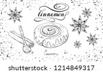 bakery set with cinnamon roll... | Shutterstock .eps vector #1214849317