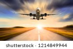 plane at the start | Shutterstock . vector #1214849944