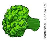 broccoli icon. cartoon of... | Shutterstock .eps vector #1214852671