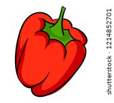 red pepper icon. cartoon of red ... | Shutterstock .eps vector #1214852701