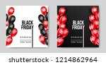 black friday sale poster with... | Shutterstock .eps vector #1214862964