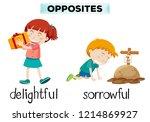 english opposite word of... | Shutterstock .eps vector #1214869927