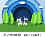 snow and winter season with... | Shutterstock .eps vector #1214882257