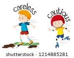english opposite word  careless ... | Shutterstock .eps vector #1214885281