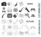 detective and attributes...   Shutterstock .eps vector #1214886181