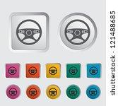 car steering wheel icon. vector ... | Shutterstock .eps vector #121488685