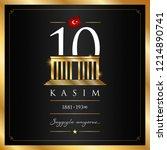 10 kasim vector illustration. ... | Shutterstock .eps vector #1214890741