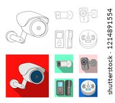 vector illustration of cctv and ... | Shutterstock .eps vector #1214891554