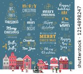christmas decoration set of... | Shutterstock .eps vector #1214898247
