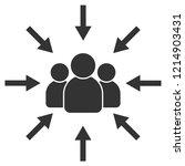 target audience. customer ... | Shutterstock .eps vector #1214903431