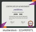 diploma or certificate template ... | Shutterstock .eps vector #1214909371