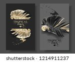 vector tropical banners with... | Shutterstock .eps vector #1214911237