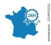 map of france. award  symbol of ... | Shutterstock .eps vector #1214913121
