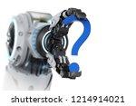 3d rendering robot arm with...   Shutterstock . vector #1214914021