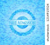 free admission sky blue mosaic... | Shutterstock .eps vector #1214915524