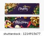 christmas banner  xmas festive... | Shutterstock .eps vector #1214915677