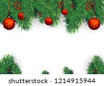 christmas background with fir... | Shutterstock .eps vector #1214915944
