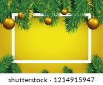christmas background with fir... | Shutterstock .eps vector #1214915947
