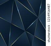 dark blue premium background... | Shutterstock .eps vector #1214916487
