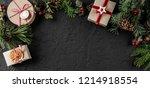 creative frame made of... | Shutterstock . vector #1214918554