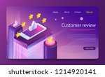 customer review concept.... | Shutterstock .eps vector #1214920141
