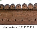 tha phae gate tourist... | Shutterstock . vector #1214929411