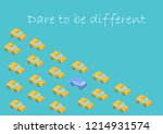 concept. dare to be different.... | Shutterstock .eps vector #1214931574