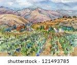 Landscape With Vineyard....