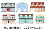 house exterior. vector. home... | Shutterstock .eps vector #1214941264
