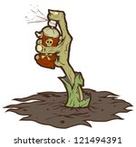 zombie hand sticking out of the ... | Shutterstock .eps vector #121494391