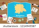 bangalore bangaluru india city... | Shutterstock .eps vector #1214945587