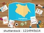 fortaleza brazil ceara city... | Shutterstock .eps vector #1214945614