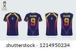 blue t shirt sport design... | Shutterstock .eps vector #1214950234