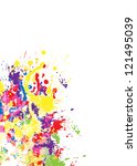 color paint splashes. gradient...   Shutterstock .eps vector #121495039