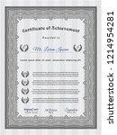 grey certificate of achievement.... | Shutterstock .eps vector #1214954281
